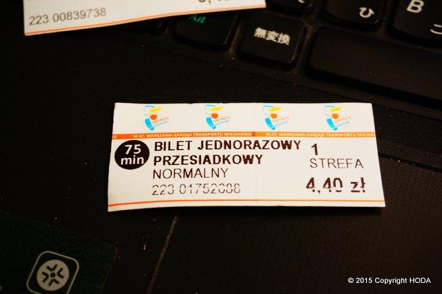 ポーランド 電車 チケット