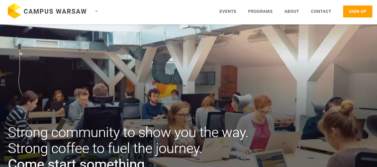 Google Campus Warsawのサイト