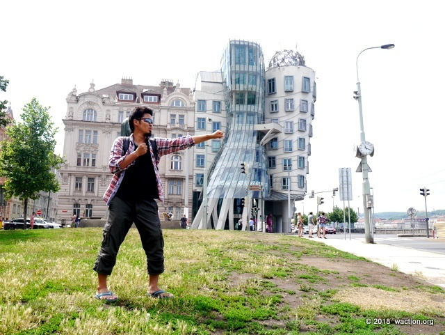 Dancing House funny photo instagram punch finger