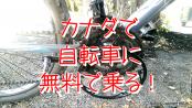 ㊙カナダで自転車に無料で乗る裏ワザ!